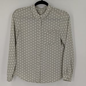 LOFT Polka Dot Button Down Shirt